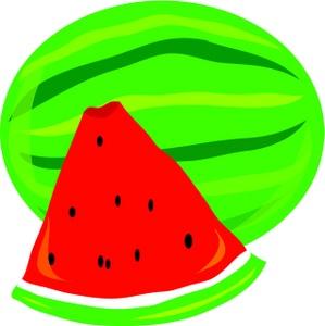 299x300 Watermelon Clipart Image