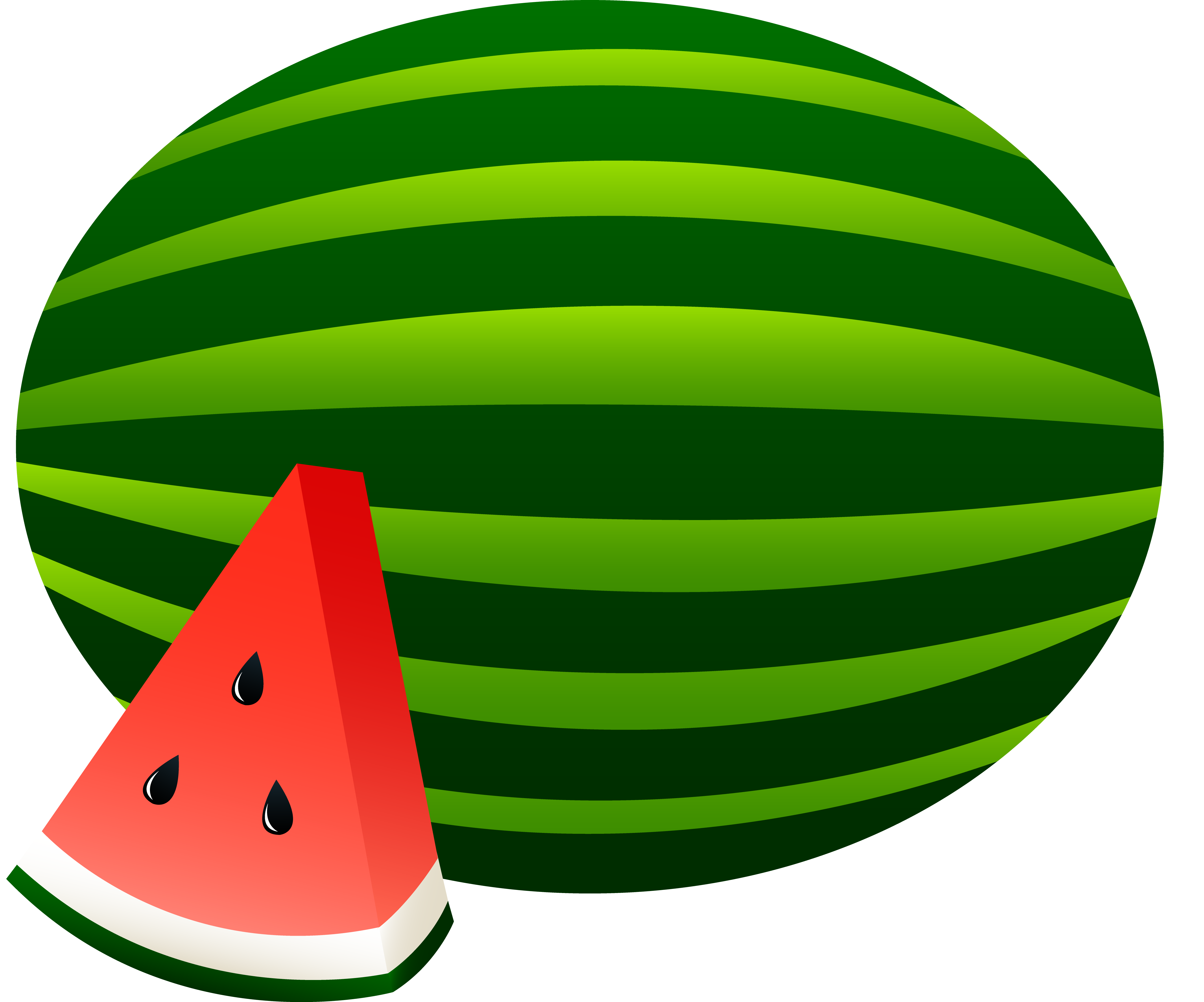 5469x4551 Watermelon Whole and Slice