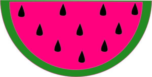600x306 Watermelon clip art