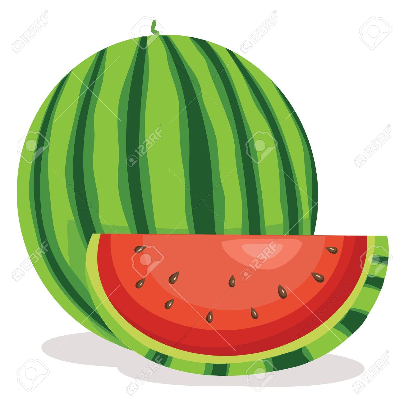 1300x1300 Watermelon clipart green fruit
