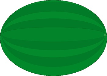 350x249 Watermelon clipart oval