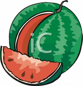 291x300 Watermelon clipart round