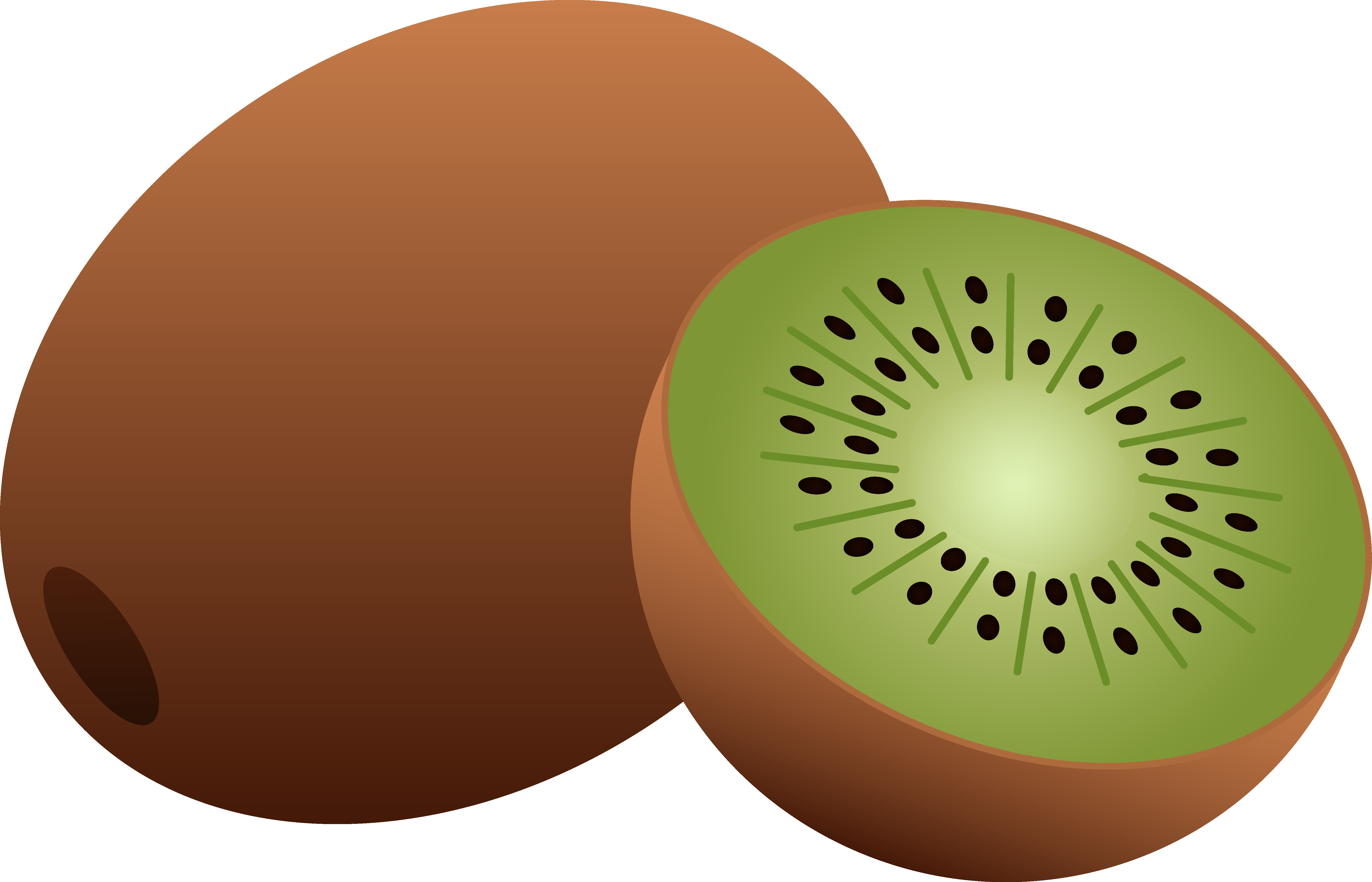 5942x3822 Whole and Half Kiwi Fruit