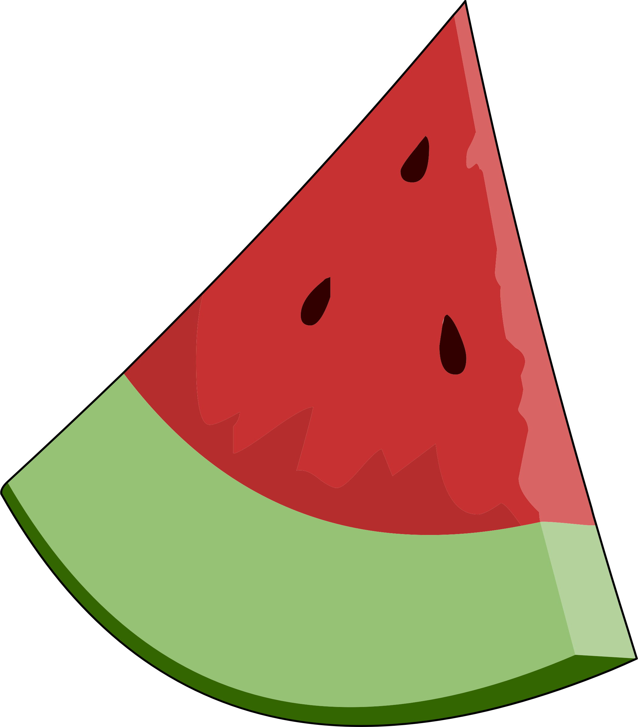 2108x2400 Clipart watermelon slice wedge –