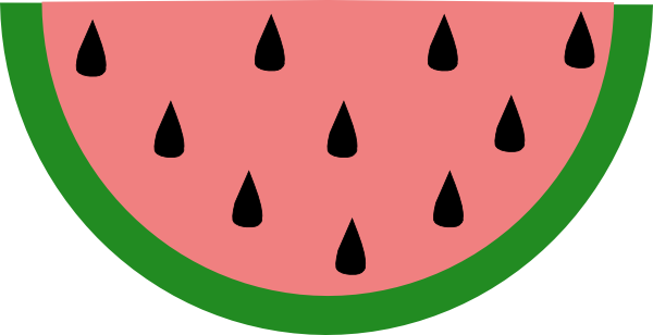600x308 Crow and watermelon clip art primitives clipart