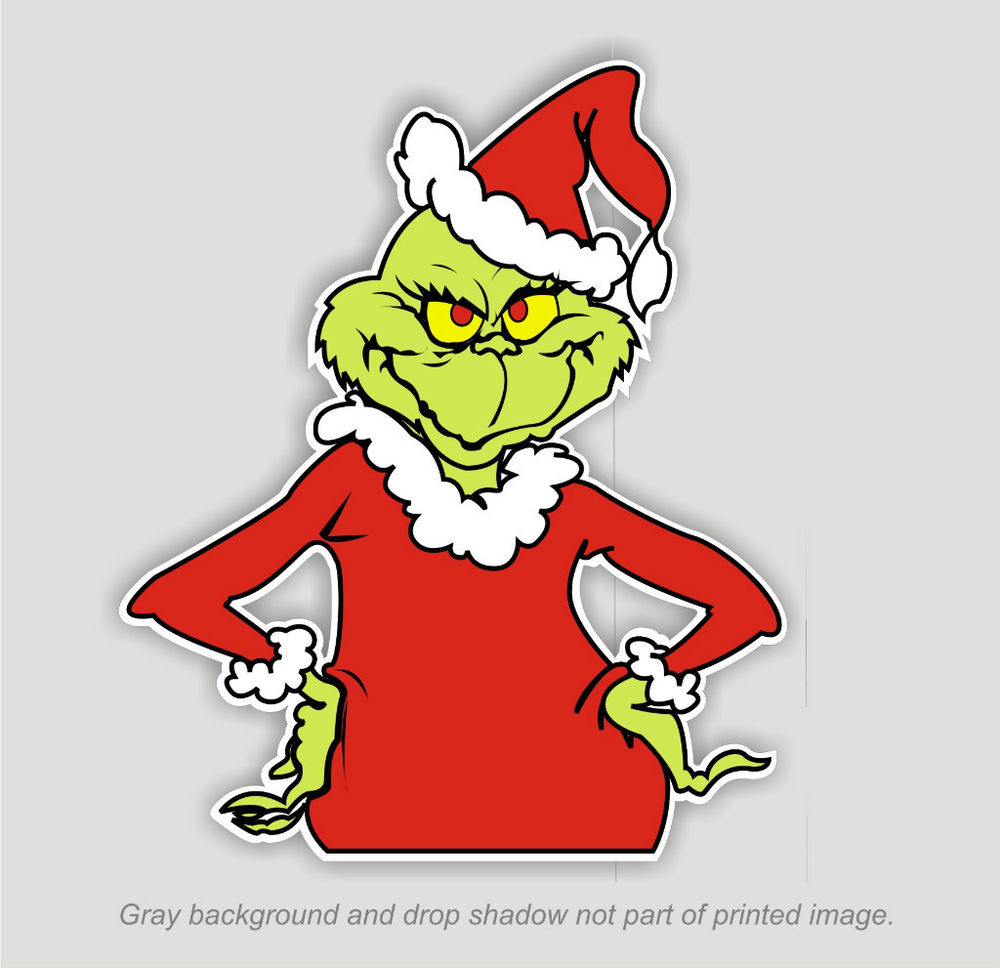 1000x968 Grinch That Stole Christmas Sticker Decal Dr. Seuss Outdoor