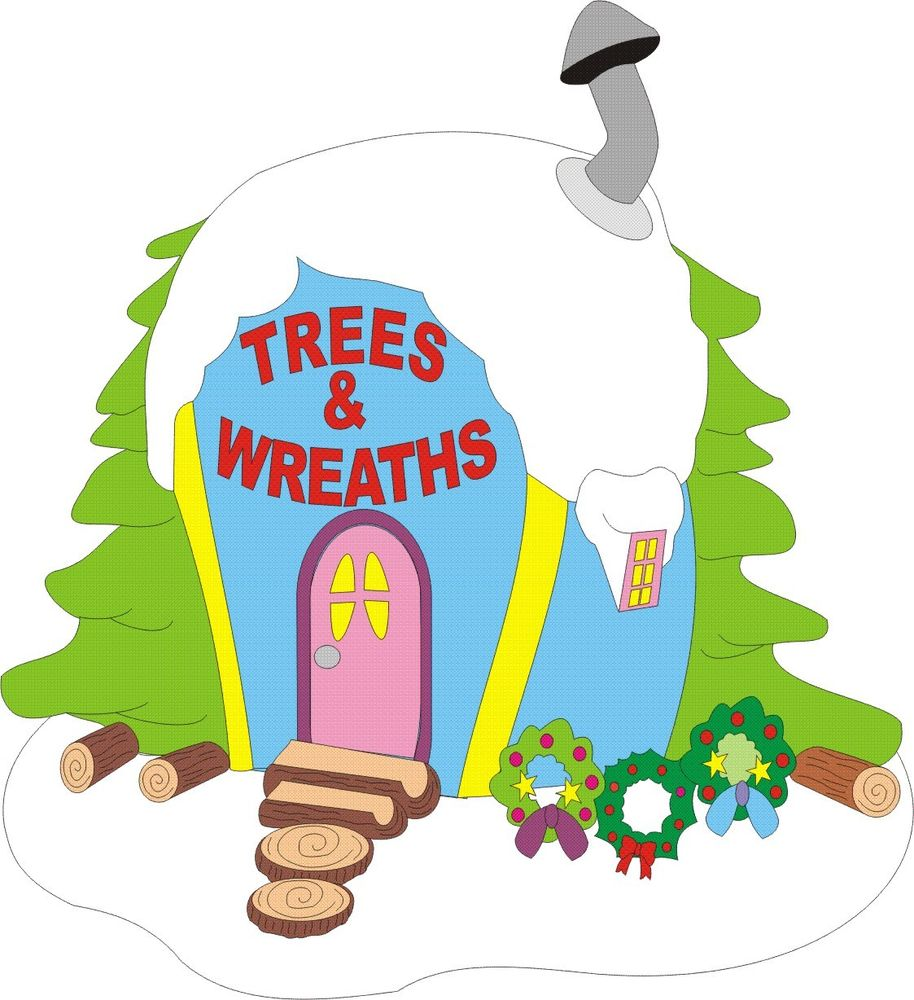 914x1000 Whoville Trees Amp Wreath House Christmas Yard Art Pattern Wood