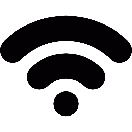512x512 White Clipart Wifi