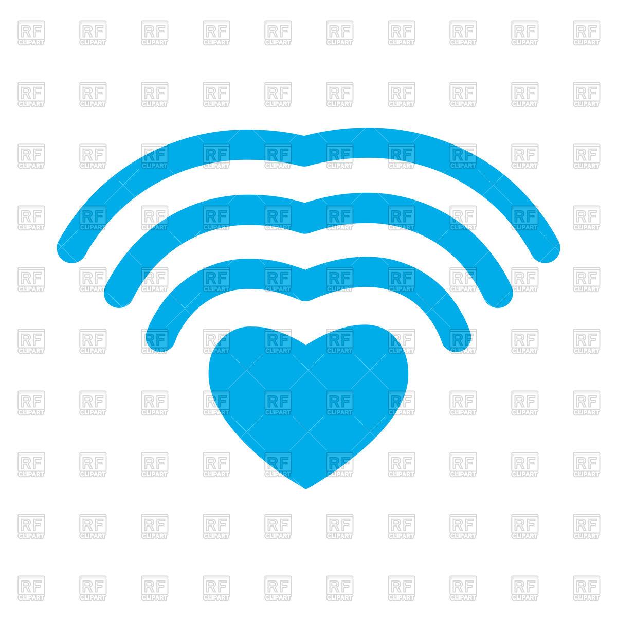 1200x1200 Wi Fi Love. Wifi Heart. Wireless Communication Icon. Royalty Free