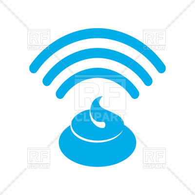 400x400 Wi Fi Shit Sign, Wifi Turd