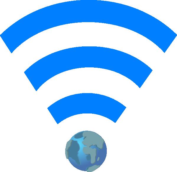 600x582 Wifi Symbol With Earth Clip Art