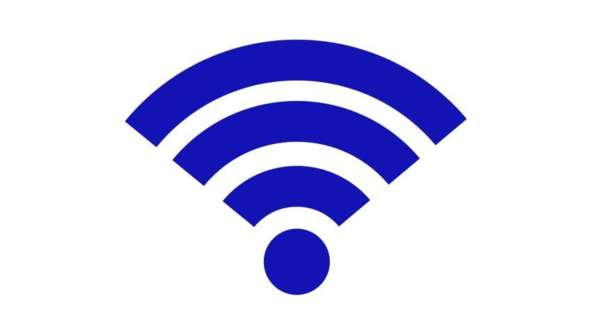 852x480 Wireless Network Icon. Wi Fi Symbol. Animation Of Wifi Element