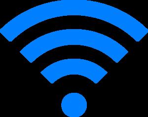 300x237 Blue Wifi Clip Art