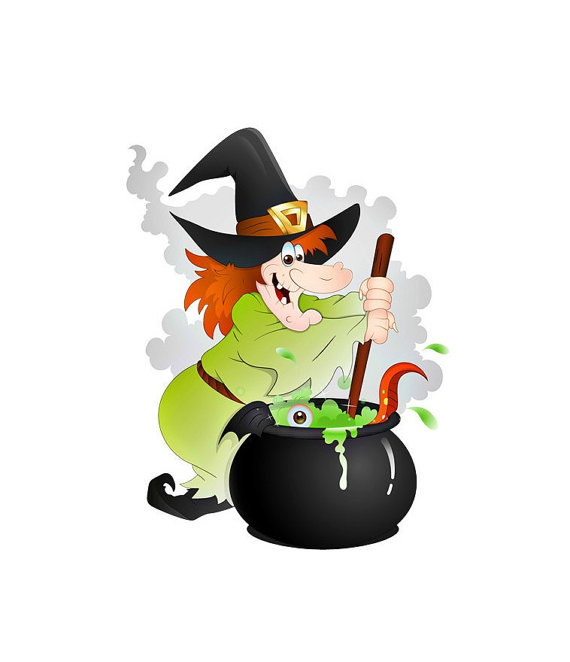 570x662 Wicked Witch Cauldron Image, Scary Witch Image,large Witch