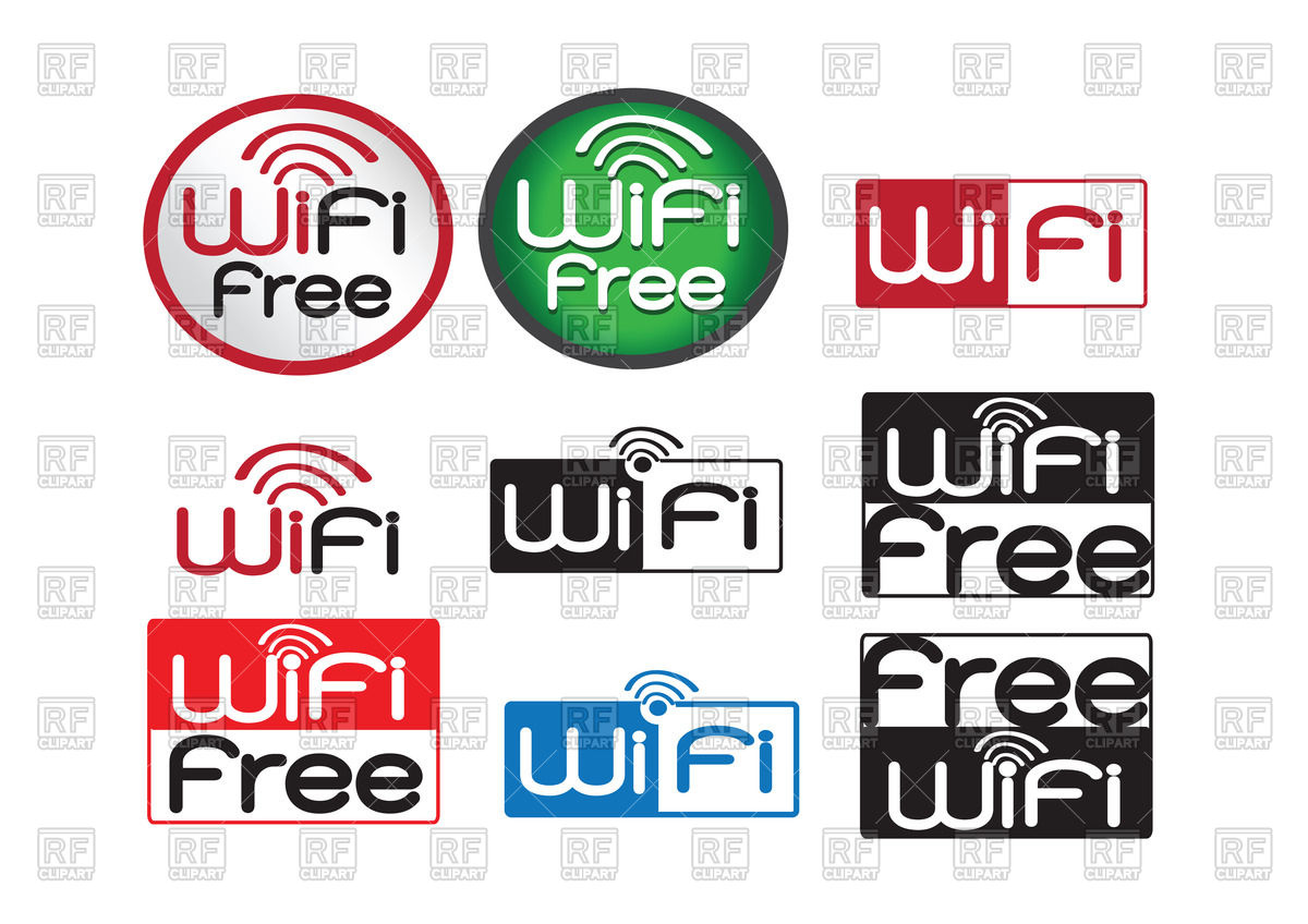 1200x848 Set Of Wifi Icons Royalty Free Vector Clip Art Image