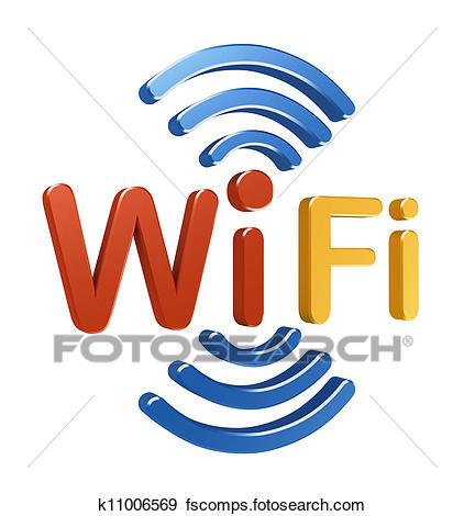 422x470 Stock Illustration Of Wifi Logo. 3d Concept K11006569