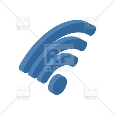 400x400 Wi Fi Sign. Wifi Symbol. Royalty Free Vector Clip Art Image