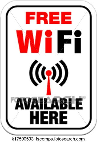 322x470 Clipart Of Free Wifi Available Here Sign K17590593