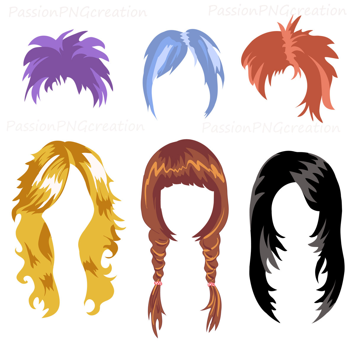 1200x1161 Pink Hair Clipart Wig