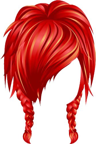 334x498 Red Hair Clipart Wig