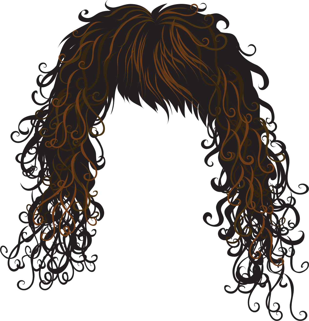 Red Hair Wig Clipart