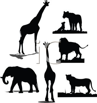 331x350 Silhouette Clipart Wild Animal