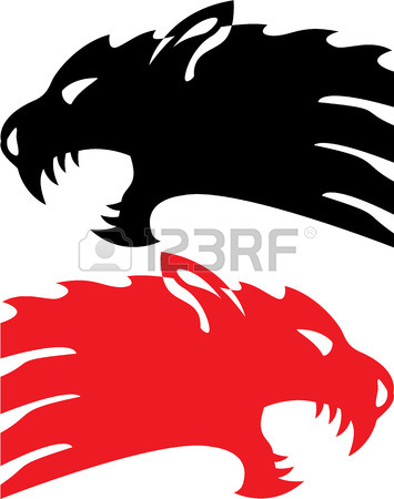 355x450 Wild Demon Vector Illustration Clip Art Image Royalty Free