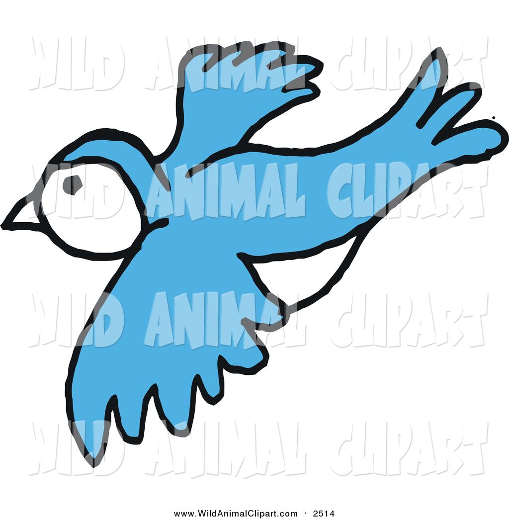 1024x1044 Clip Art Of A Blue Bird In Flight By Lafftoon