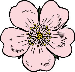 297x282 Wild Rose Clip Art