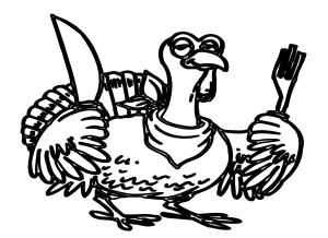 Wild Turkey Clipart Black And White