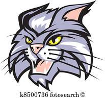 206x194 Wildcat Clipart And Illustration. 2,093 Wildcat Clip Art Vector