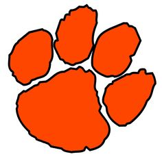 236x232 Tiger Paw Pictures Black Tiger Paw Print With Orange Outline