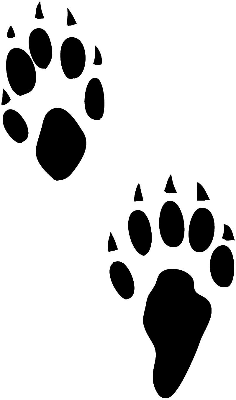 800x1360 Fox Paw Print Clip Art