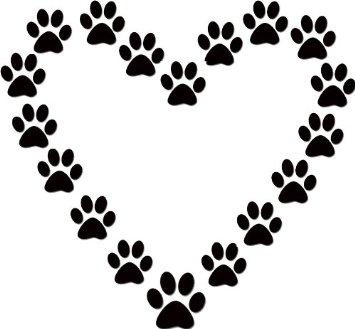 355x329 Dog Paw Print Stamps Dog Prints Clip Art 3