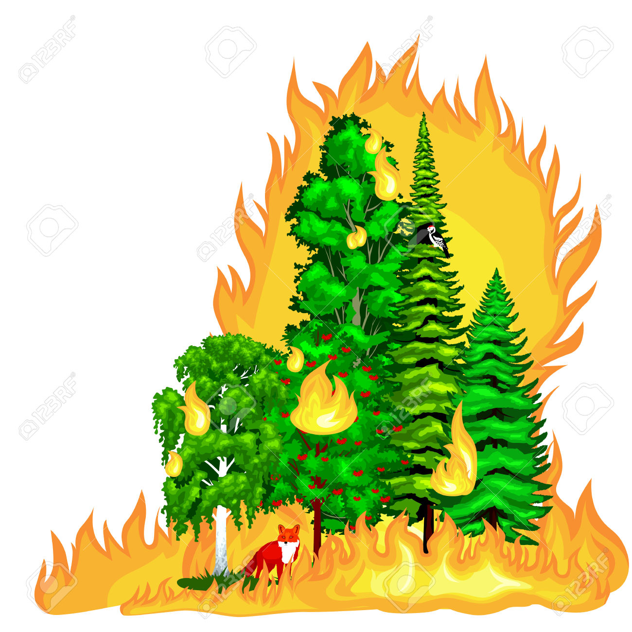 1300x1300 Disaster Clipart Forest Fire