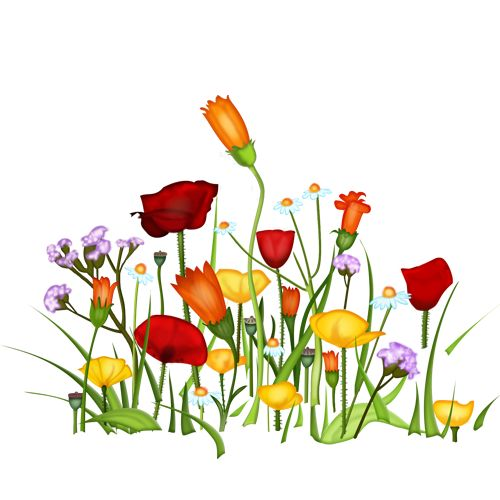 500x500 Grass And Flowers Clip Art Home Gt Clip Arts Gt Free Grass Flowers
