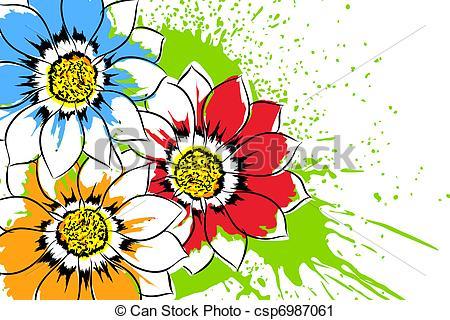450x320 Beautiful bright yellow wildflowers clipart