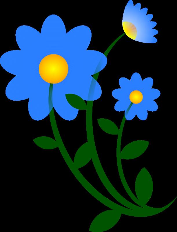611x800 Blue Flower Clip Art Download