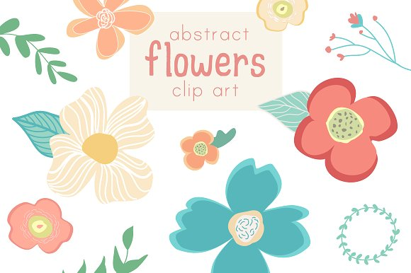 580x386 Wildflower clipart abstract