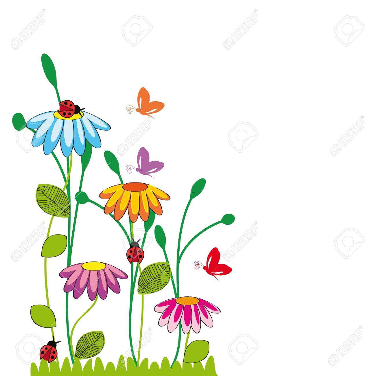1300x1300 Wildflower clipart cartoon