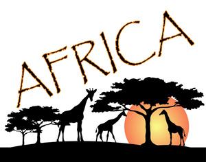 300x236 African Logos Design Clip Art Image African Wildlife