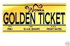 Willy Wonka Golden Ticket Template Clipart Free Download Best