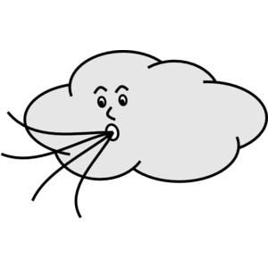 300x300 Wind Blowing Cloud Clip Art Clipart Panda