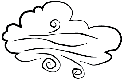 400x261 Wind Clipart Outline