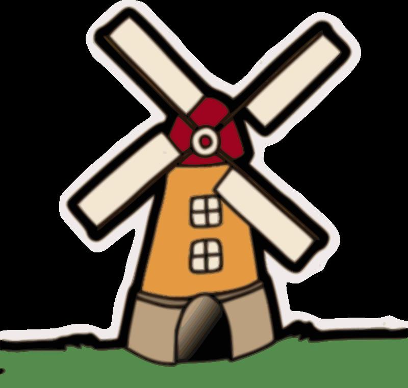800x761 Wind Mill Clipart