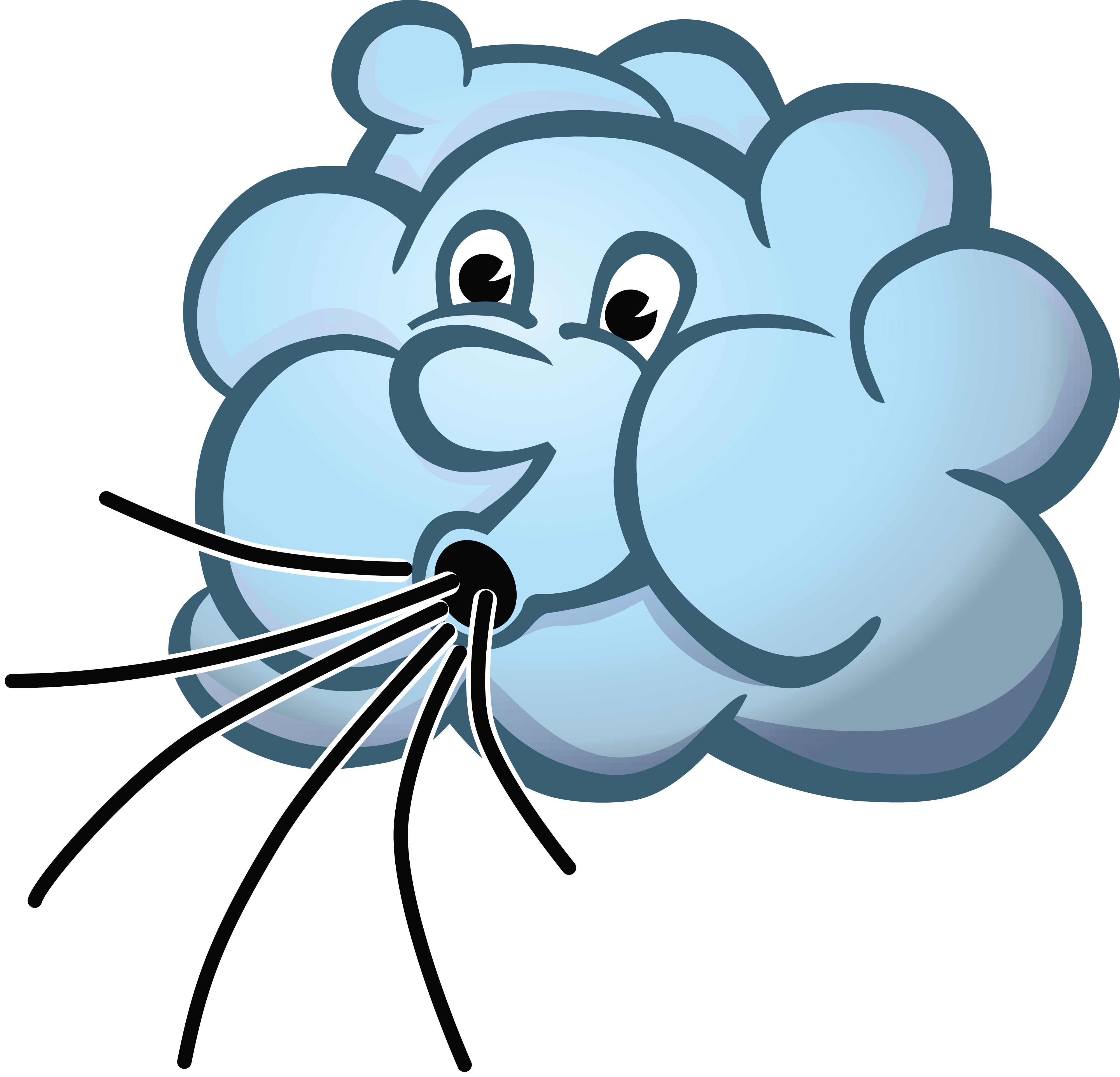 4000x3846 Clipart Of A Cloud Blowing Wind