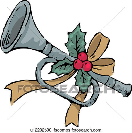 450x455 Clipart Of Holiday, Instrument, Wind Instrument, Musical