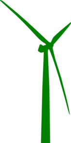147x295 Wind Turbine Green Clip Art