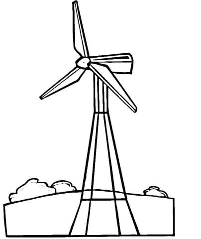 404x480 Wind Turbine Coloring Page Free Printable Coloring Pages Clipart