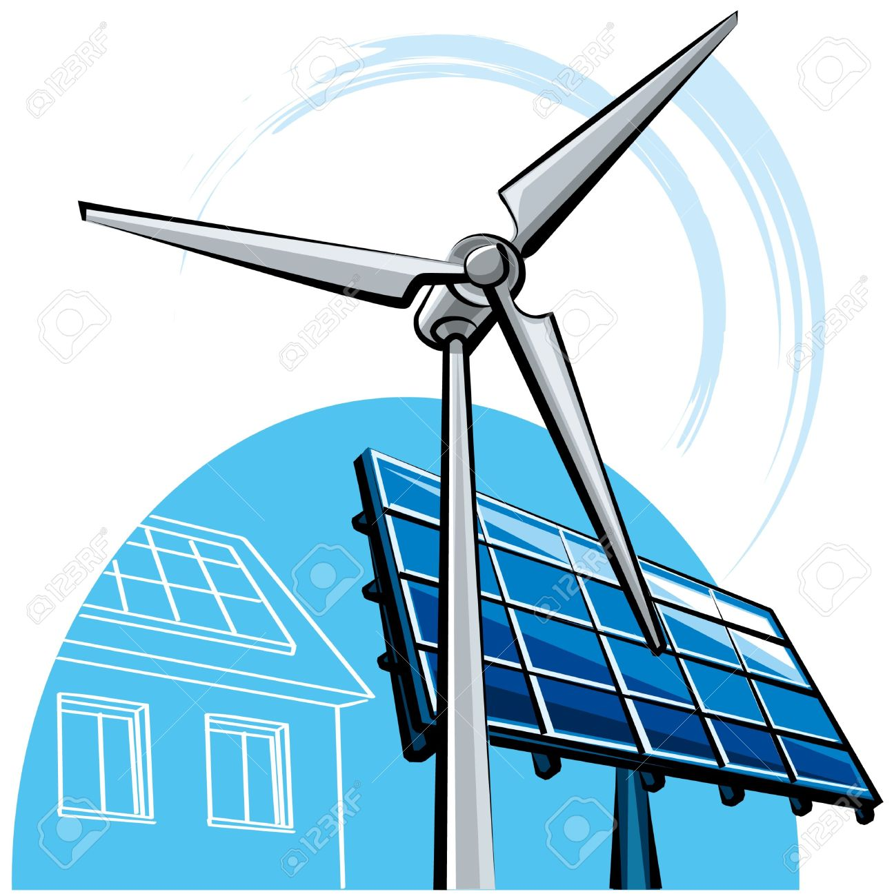 1296x1300 Wind Turbine Clipart Modern Windmill